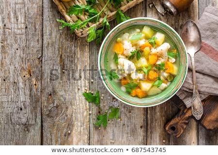 вкусный вегетарианский кухня баклажан баклажан Сток-фото © ozgur