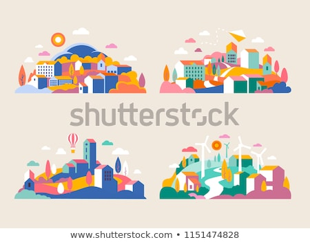 House Graphic Icon and Header Stock photo © feverpitch