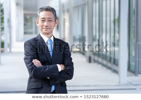 бизнесмен менеджера баннер рук бизнеса человека Сток-фото © tiKkraf69