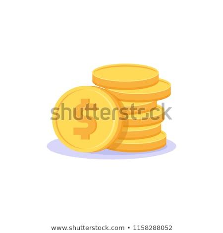 Dólar moeda assinar moeda de ouro vetor ícone Foto stock © rizwanali3d