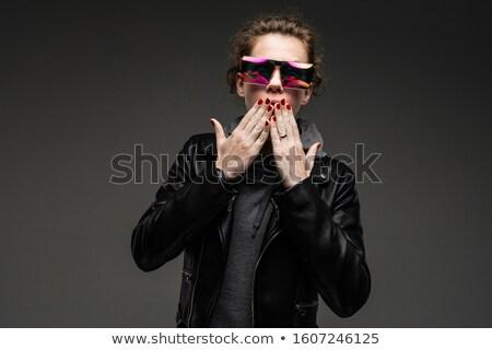 тесные портрет рокер позируют темно Сток-фото © feedough