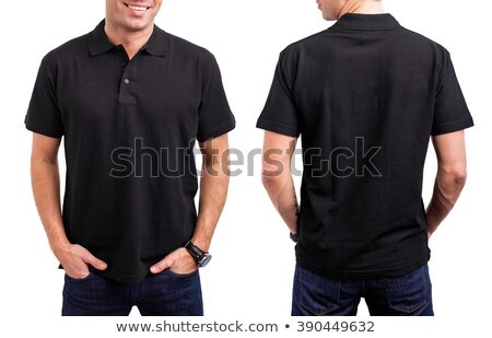 young man in polo shirt pointing fingers  Stock photo © feedough
