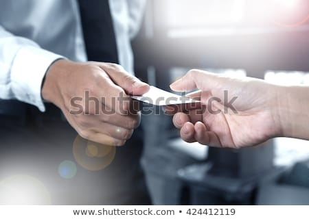 Stock photo: Business Cards Closing The Deal