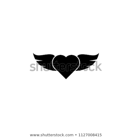 Winged Heart with Ring stock photo © iconify