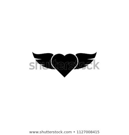 hart · ring · plek · illustratie · trouwring · pijlen - stockfoto © iconify