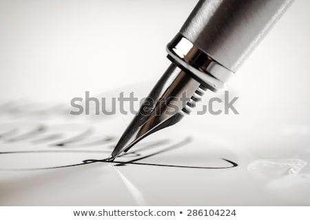 levél · toll · boríték · aláírás · papír · üzlet - stock fotó © dayzeren