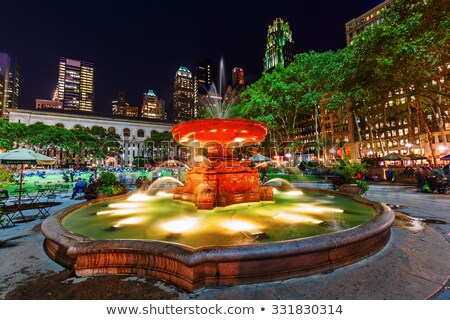 фары парка Manhattan цветы саду деревья Сток-фото © rmbarricarte