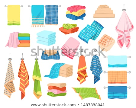 a stack of folded handkerchiefs Stock photo © Giulio_Fornasar