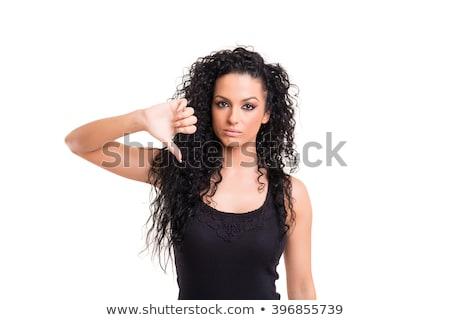怒っ · 女性 · 親指 · ダウン · クローズアップ · 肖像 - ストックフォト © artfotodima