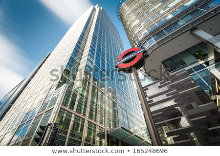 Yeraltı imzalamak canary wharf financial district Londra istasyon Stok fotoğraf © photocreo