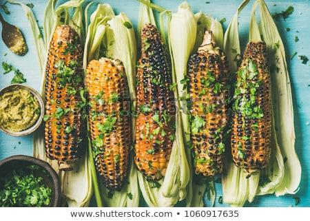 Grelhado milho pesto manteiga comida vara Foto stock © Digifoodstock