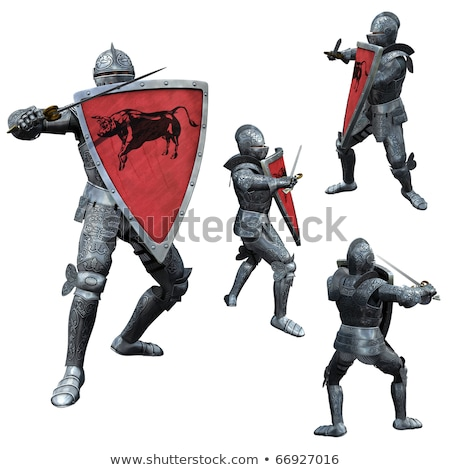 Man Knight Full Armor Stock photo © lenm