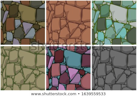 Stones and jewels seamless pattern. Diamonds in  ground. Gaming  Stock photo © MaryValery