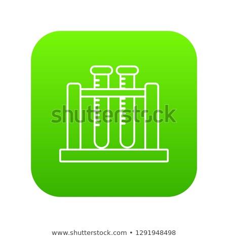 ボタン テスト ラック 実例 白 ストックフォト © bluering