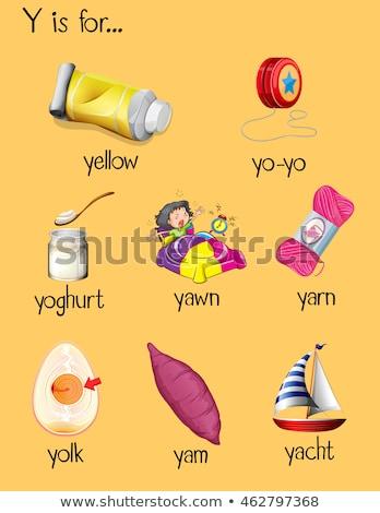 Levél tojássárgája illusztráció étel háttér művészet Stock fotó © bluering
