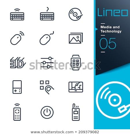 Draadloze muis lijn icon vector geïsoleerd Stockfoto © RAStudio