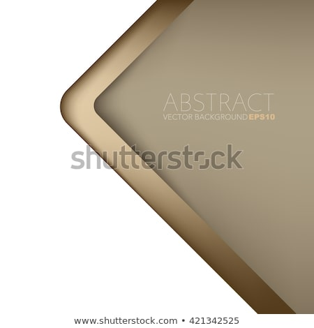 Abstract brown background with geometric shapes overlapping Stock photo © punsayaporn