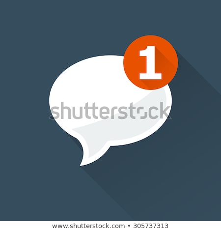 Incoming Message Notification Icon - Oval Speech Bubble Stockfoto © GoMixer