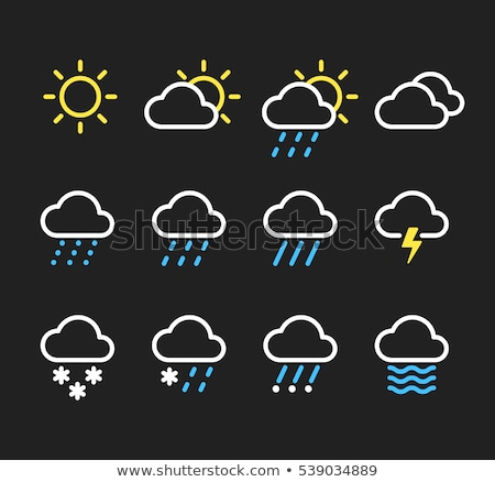 Weather icon with different types of weathers Stock photo © bluering