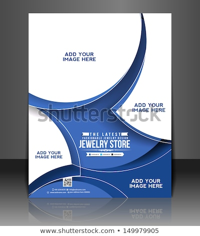 бизнеса листовка брошюра дизайн шаблона аннотация геометрический Сток-фото © SArts