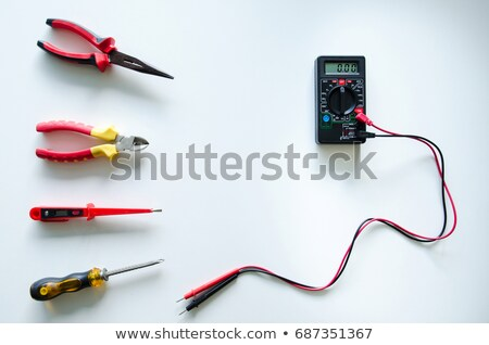 The device a multimeter isolated on a white background Stock photo © ISerg