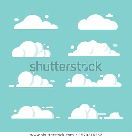 Felhő ikon forma szimbólum piktogram vektor Stock fotó © creativika