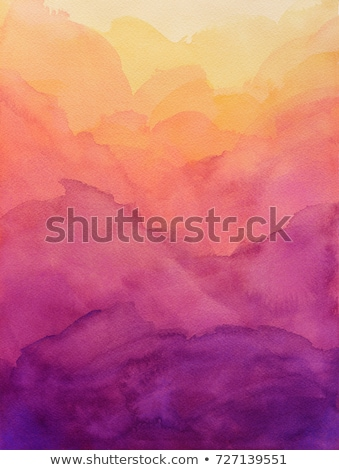 abstract orange and purple watercolor stain brush stroke Stock photo © SArts