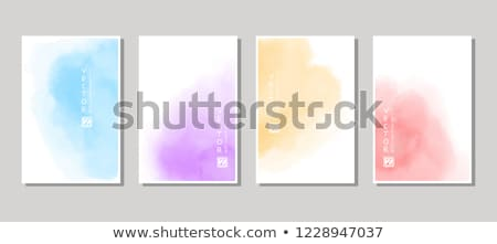 water color brish stroke stain in pink and purple color Stock photo © SArts