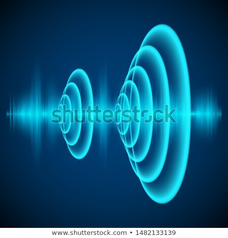 Radial sonar waves Stock photo © SwillSkill