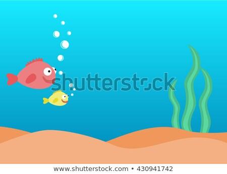 Stock fotó: Vízalatti · jelenet · hal · úszik · illusztráció · tenger