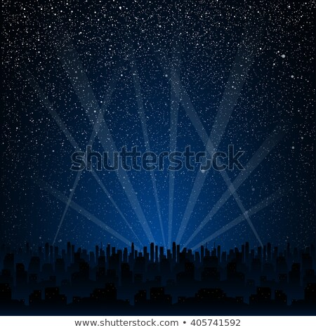 Sky night space abstract background with stars. Universe backdrop. Vector illustration. Stock photo © lucia_fox