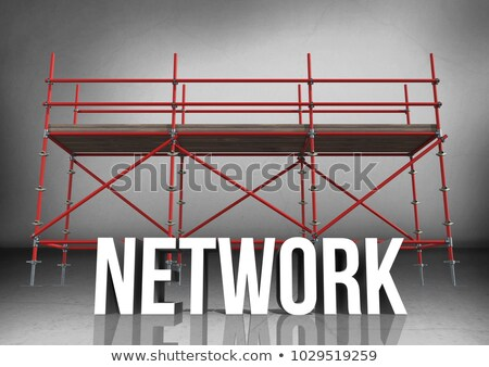3D word structure against scaffolding in grey room Stock photo © wavebreak_media