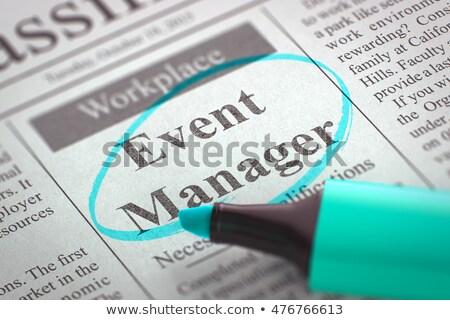 We are Hiring Event Manager. 3D Illustration. Stock photo © tashatuvango