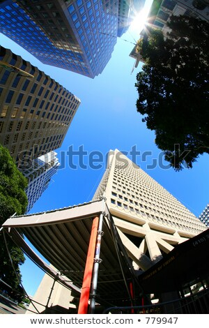 San · Francisco · linha · do · horizonte · reflexão · água · céu · edifício - foto stock © blamb