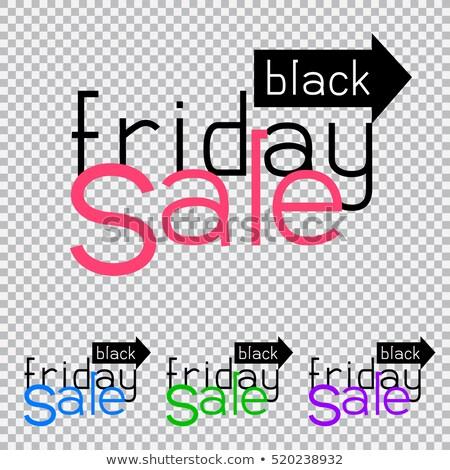 Black friday venda maneira direção transparente desconto Foto stock © romvo