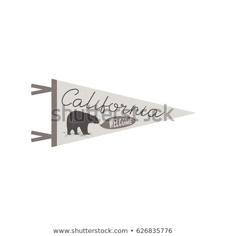 Adventure pennant. Welcome to California flag Pennant. Explorer tee design. Vintage camping t shirt  Stock photo © JeksonGraphics