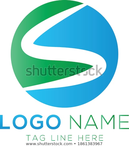 Abstract symbool ovaal brief icon ontwerp Stockfoto © cidepix