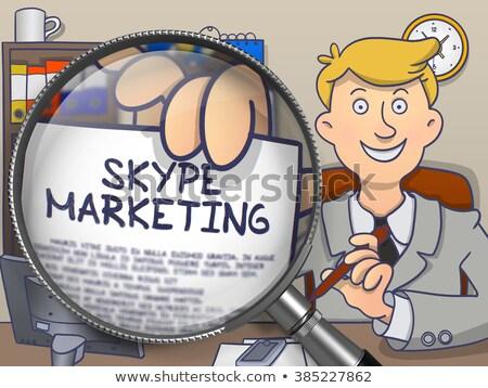 Mlm lens doodle stijl niveau marketing Stockfoto © tashatuvango