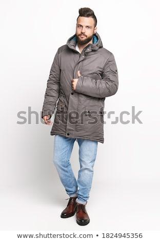 男性 · 冬 · ジャケット · 毛皮 · 孤立した · 白 - ストックフォト © gsermek