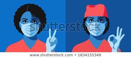 avatar portrait of a nurse ok gesture stock photo © studiostoks