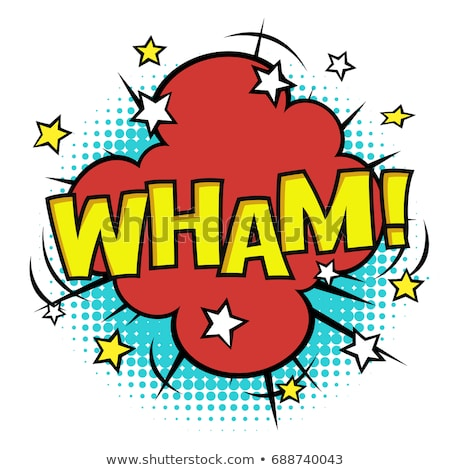 WHAM! phrase in speech bubble. Comic sound. Vector bubble icon s Stock photo © pashabo