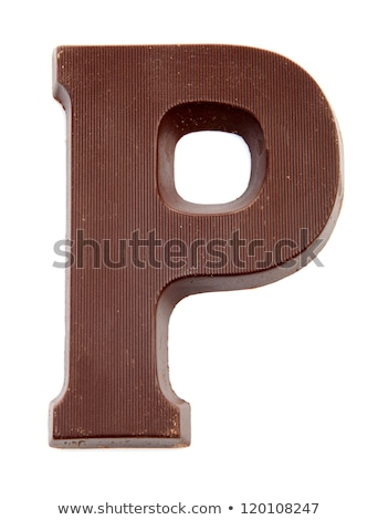 letter p candies chocolate stock photo © olena