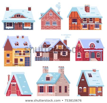 Montagne chalet cheminée hiver briques toit Photo stock © stevanovicigor