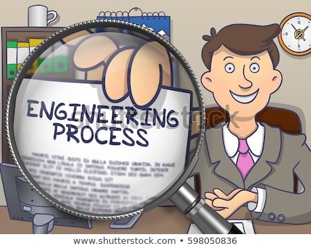 Optimalizálás folyamat nagyító firka terv nagyító Stock fotó © tashatuvango