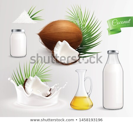 Vektör kozmetik ayarlamak paket hindistan cevizi Stok fotoğraf © frimufilms