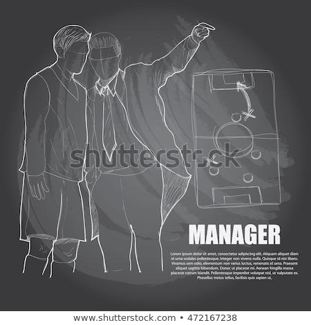 Team Management - Hand Drawn on Green Chalkboard. Stock photo © tashatuvango