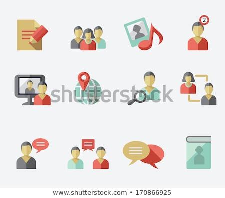 Felhasználó csoport ikon vektor stílus grafikus Stock fotó © ahasoft