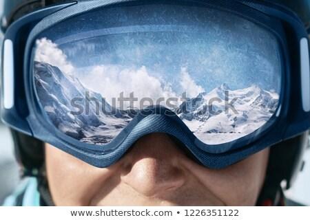 Retrato hombre nieve invierno Foto stock © IS2