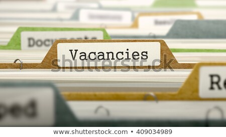 Folder in Catalog Marked as Vacancies. Stock photo © tashatuvango