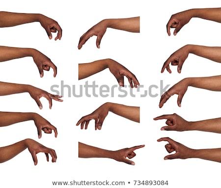 Közelkép lövés kézmozdulat izolált fehér kéz Stock fotó © Nobilior